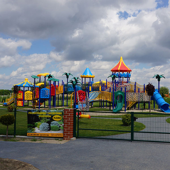Which manufacturer should I look for for outdoor slides wholesale? What material do I need for the slides?